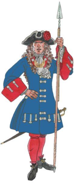 Alferes Jaume Serra, companyia del gremi de Fusters, 1711