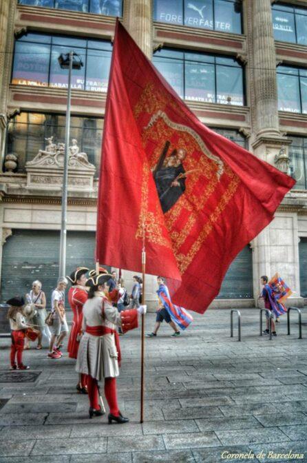 Bandera de Santa Eulàlia de la Coronela de Barcelona