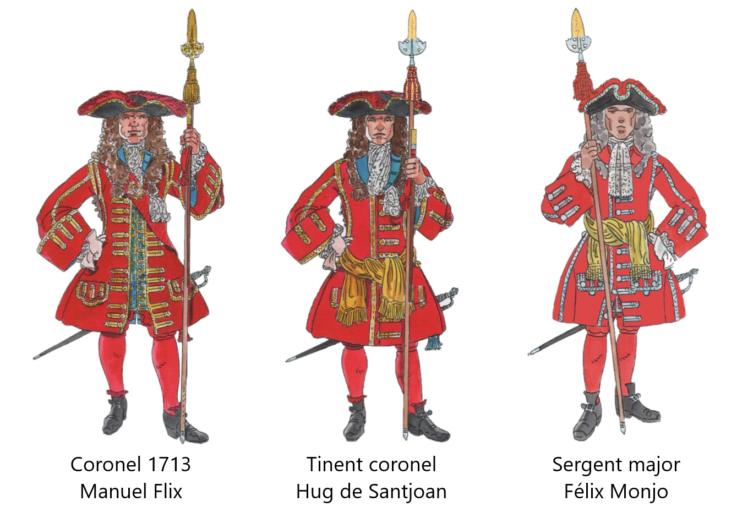 Oficials Majors Coronela, 1713